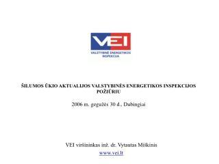 VEI viršininkas inž. dr. Vytautas Miškinis vei.lt