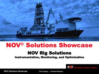 NOV Rig Solutions  Instrumentation, Monitoring, and Optimization