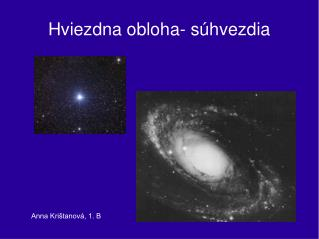 Hviezdna obloha- súhvezdia
