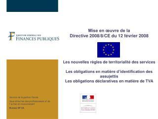 Service de la gestion fiscale Sous-direction des professionnels et de l'action en recouvrement