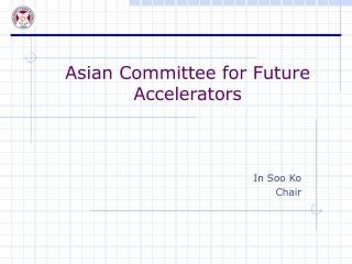 Future Accelerators