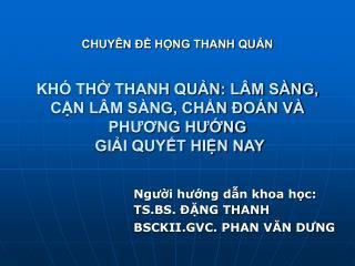 CHUY N   HNG THANH QUN  KH  TH THANH QUN: L M S NG, CN L M S NG, CHN  O N V  PHUONG HUNG  GII QUYT HIN NAY