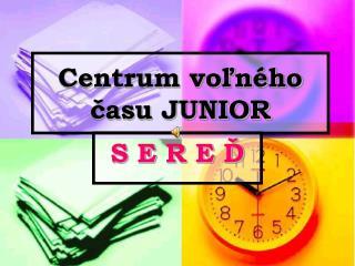 Centrum voľného času JUNIOR