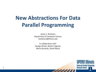 New Abstractions For Data Parallel Programming
