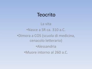 Teocrito