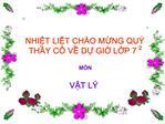 NHIT LIT CH O MNG QU  THY C  V D GI LP 72  M N  VT L