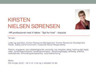 Kirsten                        Nielsen Sørensen