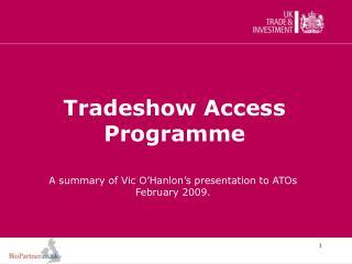 Tradeshow Access Programme