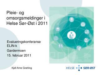 Pleie- og omsorgsmeldinger i Helse  Sør-Øst  i 2011