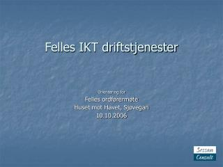 Felles IKT driftstjenester