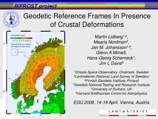 Geodetic Reference Frames In Presence of Crustal Deformations