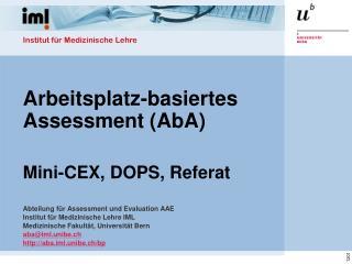 Arbeitsplatz-basiertes Assessment ( AbA )