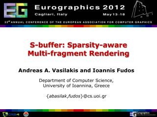 S-buffer:  Sparsity -aware  Multi-fragment Rendering
