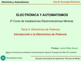 ELECTRÓNICA Y AUTOMATISMOS