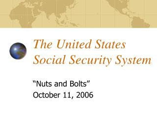 The United States  Social Security System