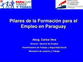 Pilares de  la Formación para el Empleo en Paraguay