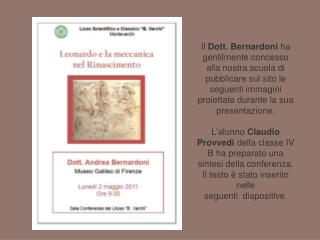 Leonardo e la meccanica nel Rinascimento