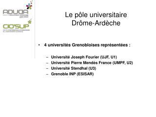 Le pôle universitaire  Drôme-Ardèche