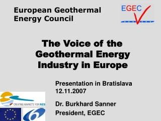 The Voice of the Geothermal Energy  Industry in Europe
