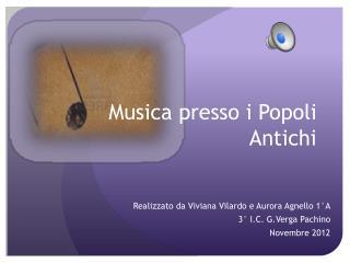 Musica presso i Popoli Antichi