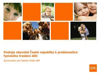 Postoje obyvatel České republiky k problematice fyzického trestání dětí