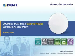 900Mbps Dual Band  Ceiling Mount Wireless Access Point