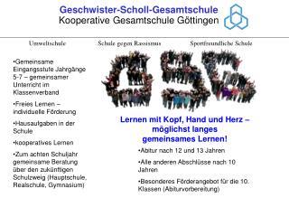 Geschwister-Scholl-Gesamtschule Kooperative Gesamtschule Göttingen