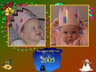 Wij wensen jullie voor 2005