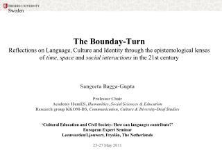 Sangeeta Bagga-Gupta Professor Chair Academy HumES,  Humanities, Social Sciences & Education