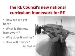 The RE Council�s new national curriculum framework for RE
