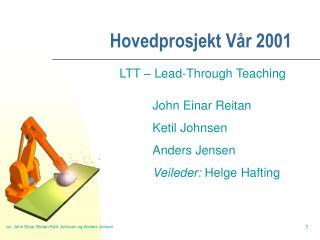 Hovedprosjekt Vår 2001