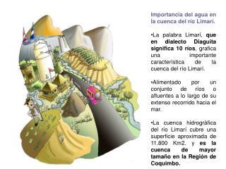 Importancia del agua en la cuenca del río Limarí.