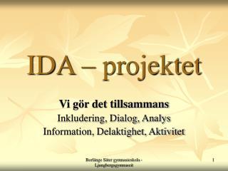 IDA – projektet