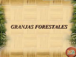 GRANJAS FORESTALES