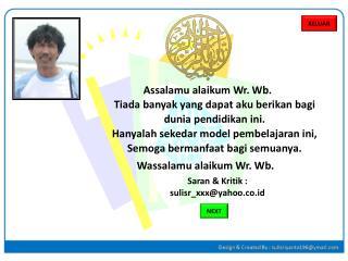 Assalamu alaikum Wr .  Wb .