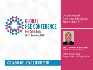 Organisational Resilience following a Major Disaster