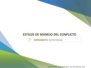 ESTILOS DE MANEJO DEL CONFLICTO