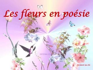 Les fleurs en poésie