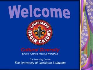 Cultural Diversity Online Tutoring Training Workshop The Learning Center