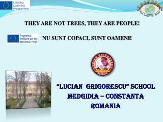"""LUCIAN  GRIGORESCU"" SCHOOL MEDGIDIA – CONSTANTA ROMANIA"