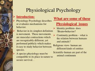 Physiological Psychology