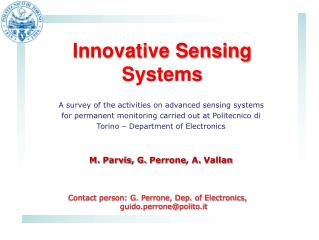 Innovative Sensing Systems