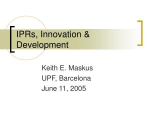 iprs, innovation  development