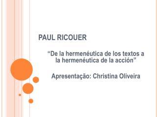 PAUL RICOUER