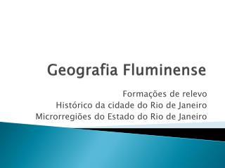 Geografia Fluminense