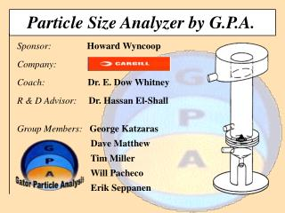 Particle Size Analyzer by G.P.A.