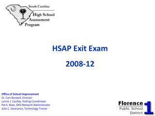 HSAP Exit Exam 2008-12