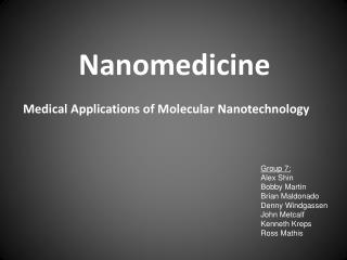 Medical Applications of Molecular Nanotechnology