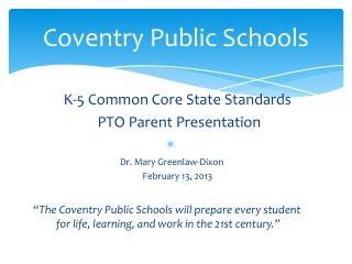 Coventry Public Schools