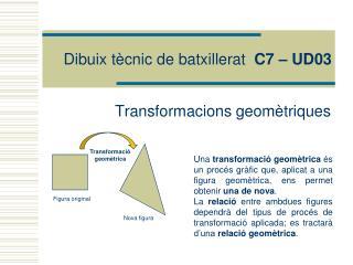 Dibuix tècnic de batxillerat   C7 – UD03